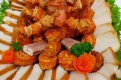 gemischte Fischplatte u.a. mit Buttermakrele und Lachs