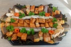 gemischte Fischplatte mit Aal
